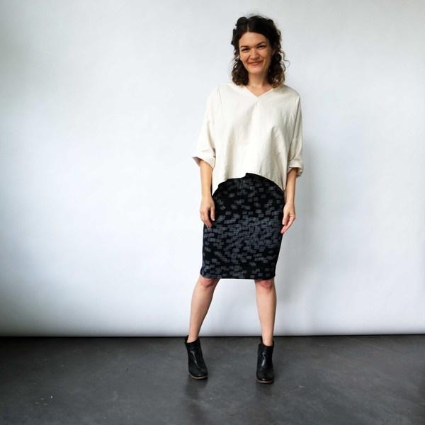 Hatch Print Tube Skirt