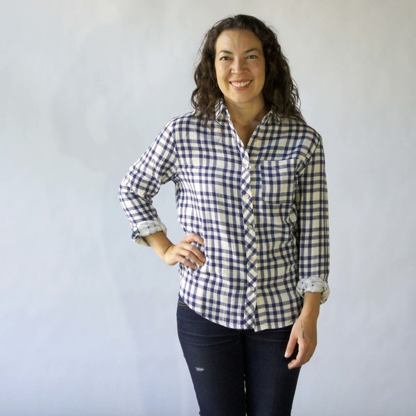 California Tailor Shirt No. 1 in Dune Point Plaid