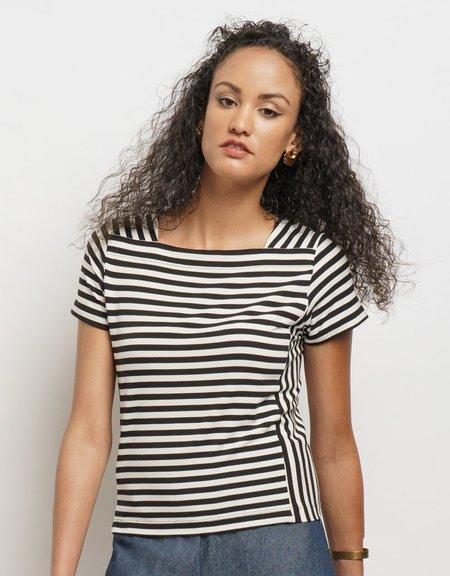 Lacson Ravello Astrid Striped Tee - black/white