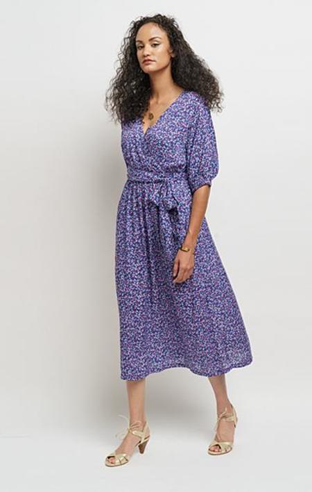 Lacson Ravello Giuliana Confetti Midi Dress - Blue