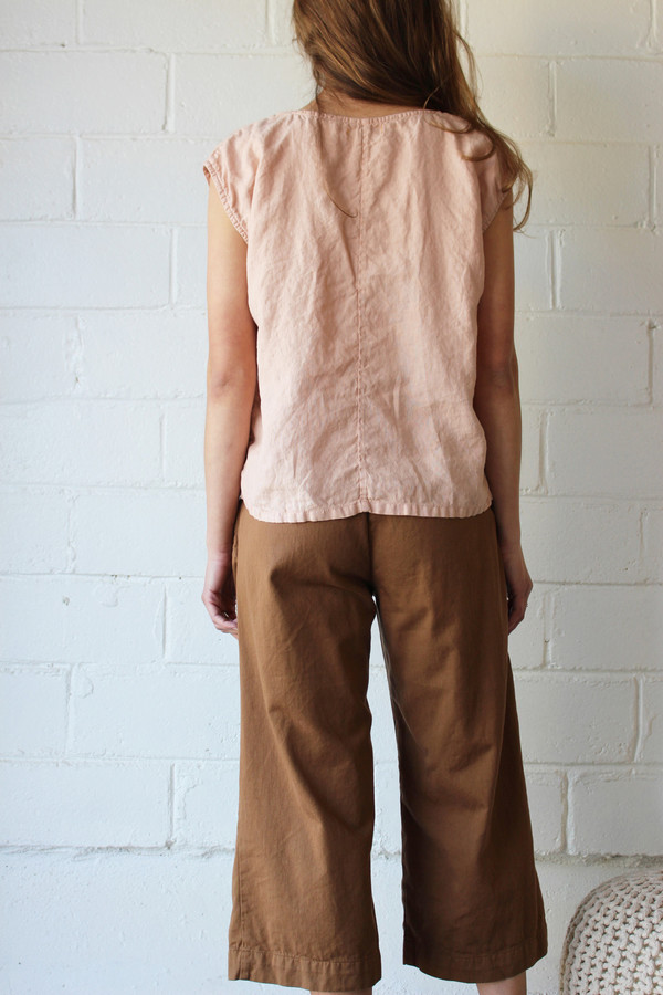esby EVIE OVERSIZED TOP - BLUSH