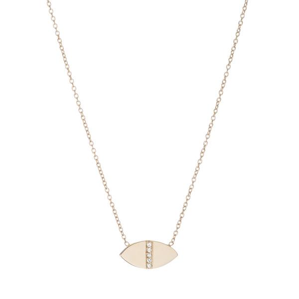 Ariel Gordon 14K Diamond Marquis Geo Necklace