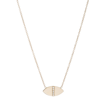 Ariel Gordon 14K Diamond Marquis Geo Necklace