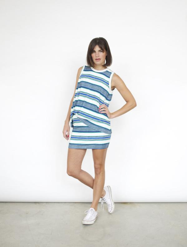 Fifteen-Twenty Stripe Mini Skirt