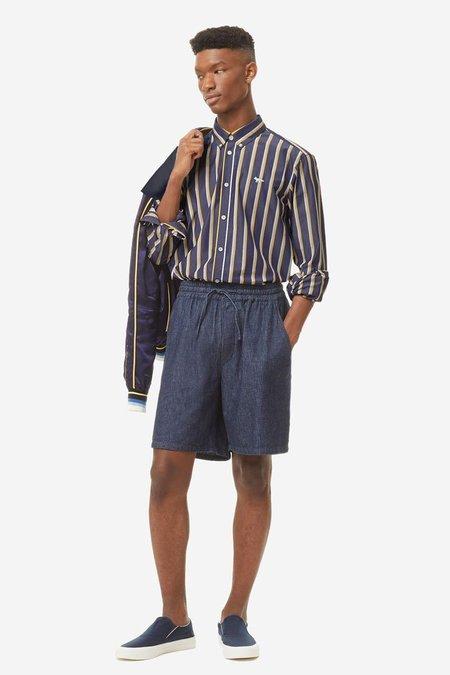 Maison Kitsune Stripes Classic Shirt - Navy Stripe