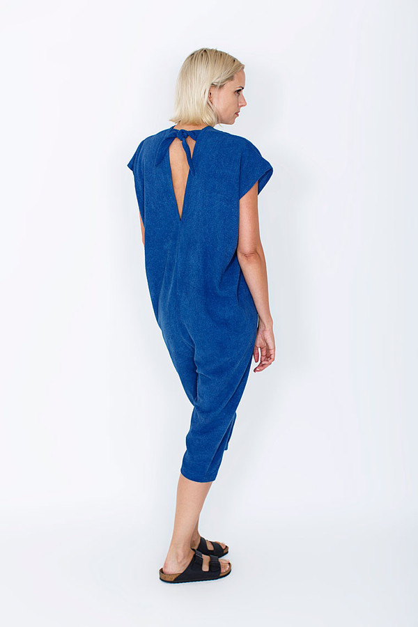 Miranda Bennett  Everyday Jumpsuit, Silk Noil in Indigo