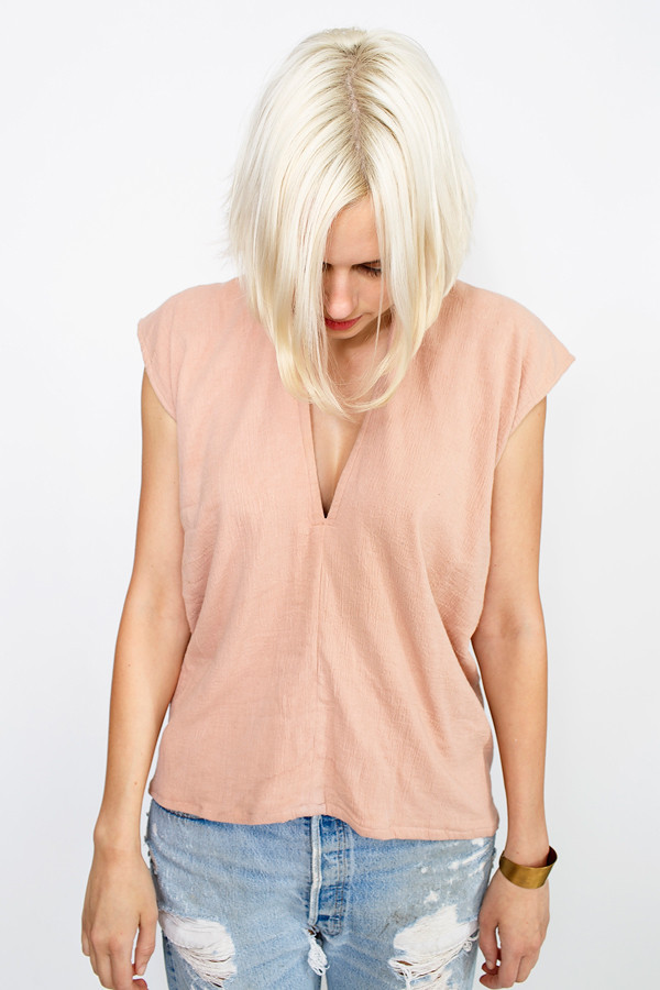 Miranda Bennett  Everyday Top, Lined Cotton Gauze in Clay