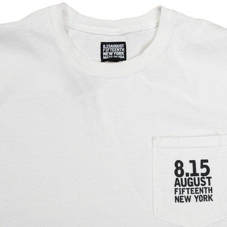 August Fifteenth Logo Pocket Tee - White