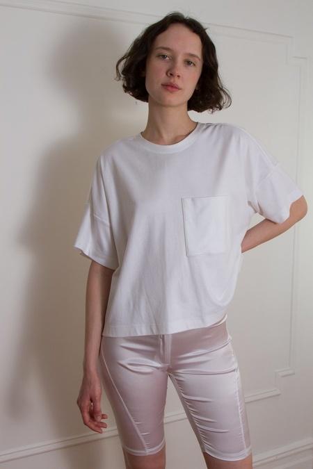 Suzanne Rae Boxy Pocket Tee - White