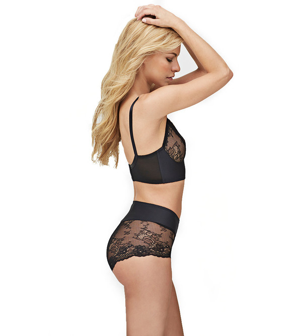 Fortnight Black Ivy Long-Line Bra
