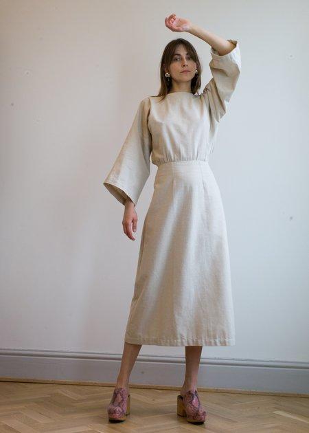 Bug Victoria Dress - Natural Linen