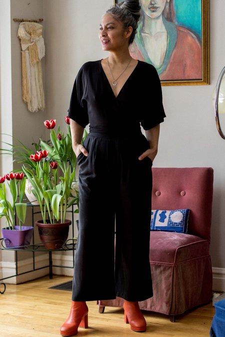 Eve Gravel Morocco Pants - Black