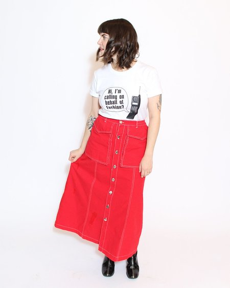 L.F.Markey Hector Skirt - Red