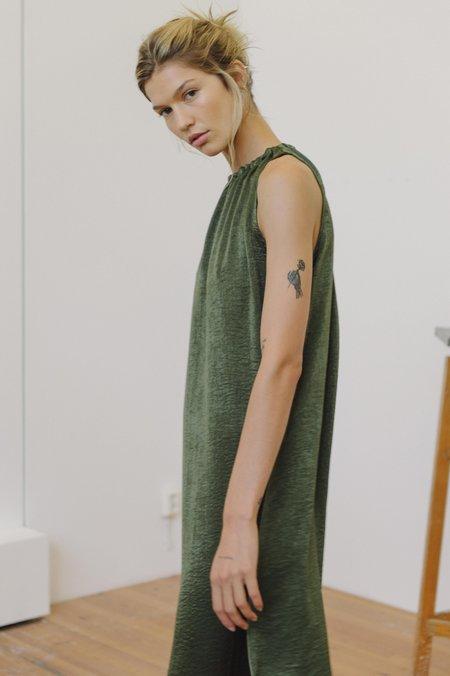 Priory Gather Dress - Slinky Olive