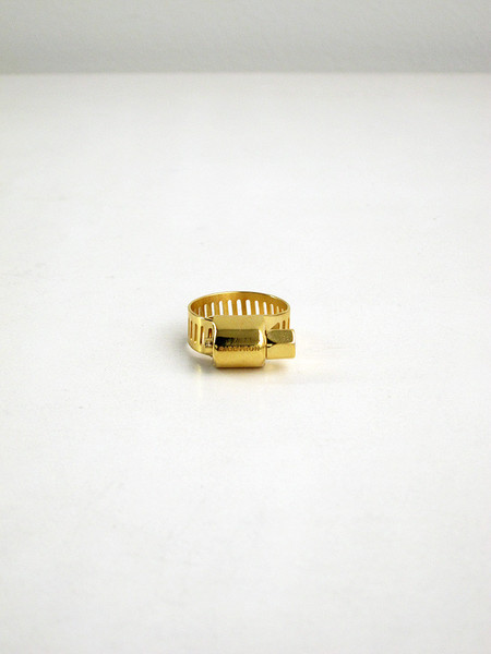 UNISEX Ribeyron Large Screw Ring - 18k GOLD