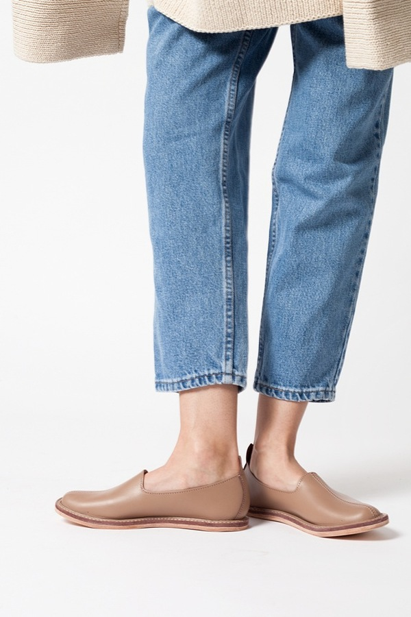 Vayarta Leather Slip On - terra