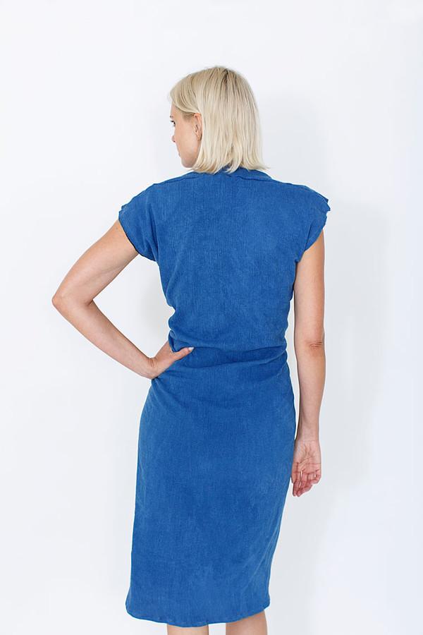 Miranda Bennett Vision Dress, Lined Cotton Gauze in Indigo