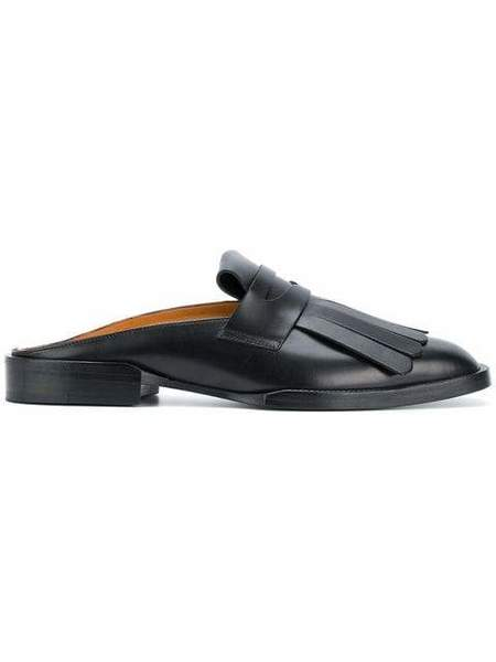 Robert Clergerie Yumi Flat Open Back Loafer - Black