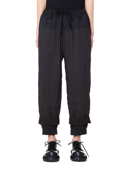 Ziggy Chen Striped Trousers - Brown/Black