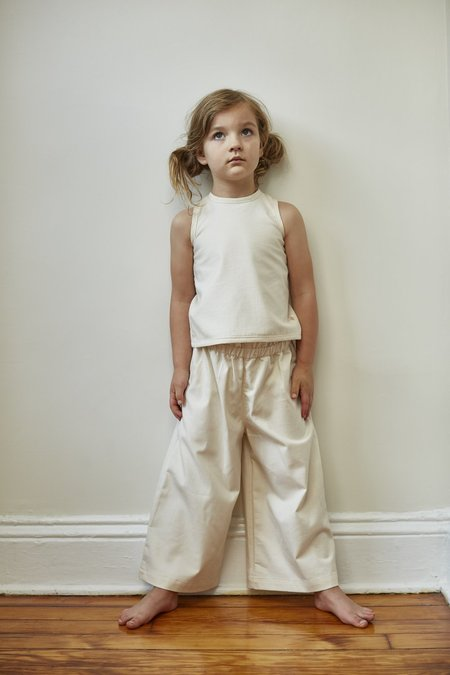 KIDS Bacabuche Paper Bag Trouser - Bleached Denim