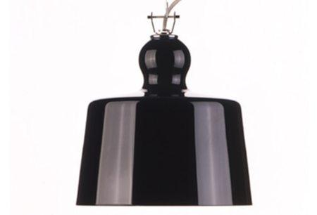 Michele de Lucchi ACQUATINTA SUSPENDED LAMP - BLACK MURANO GLASS