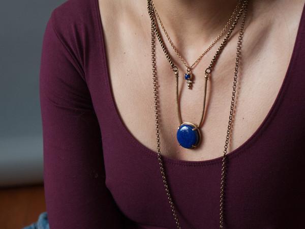 Laurel Hill Jewelry Amla Necklace // dendritic agate