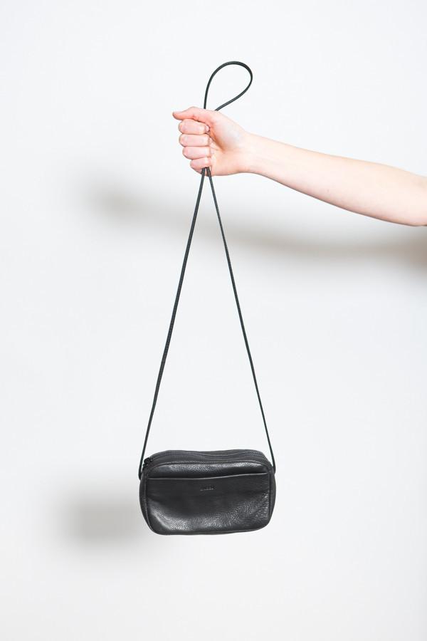 Baggu Mini Leather Purse / Black