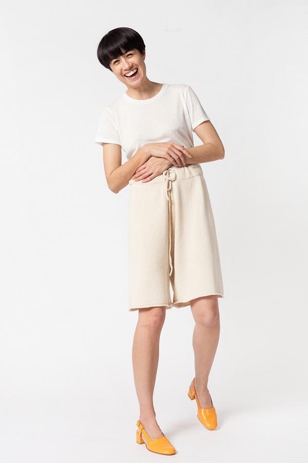 Lauren Manoogian Miter Short - crudo