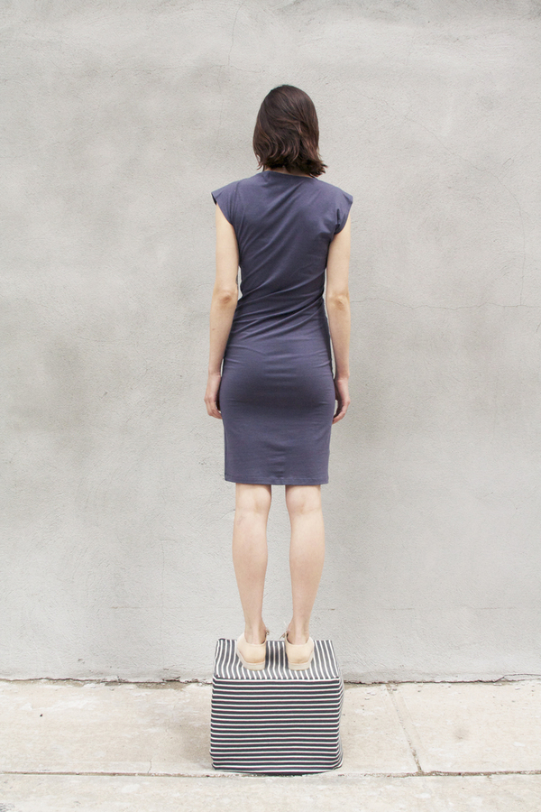 Study NY TWIST DRESS in PEWTER