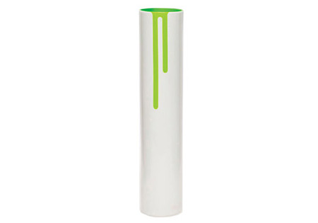 Block Design Neon Green Vase