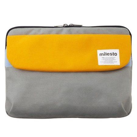 "MILESTO 13"" LAPTOP CASE - YELLOW/GRAY"