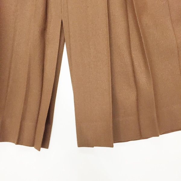 Johan  Pleated Camel Skirt