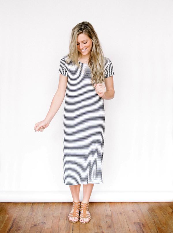 Everly Stripe Midi Dress