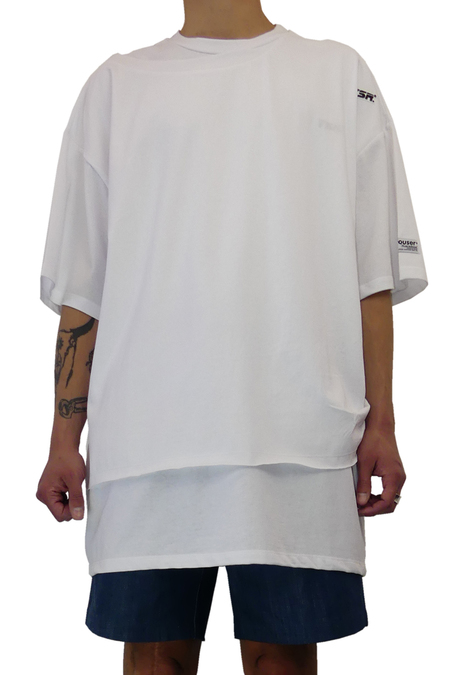 YOUSER OVERSIZED DOUBLE TEE - WHITE