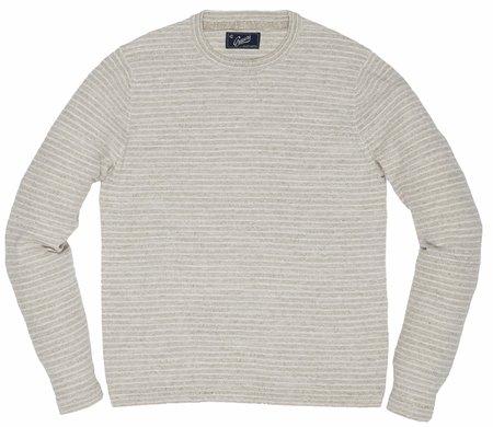 Grayers Yarmouth Jacquard Crew - Vintage White Multi Stripe