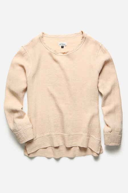 House Of St. Clair Pullover - Peach Ivory