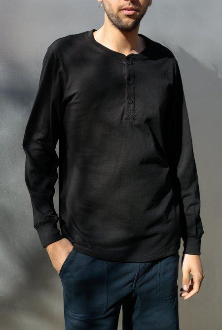 Richer Poorer Long Sleeve Henley - black