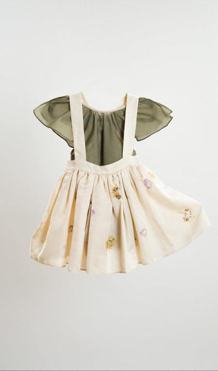 Kids Petit Mioche Organic Cotton Blouse w/ Pocket - Sage