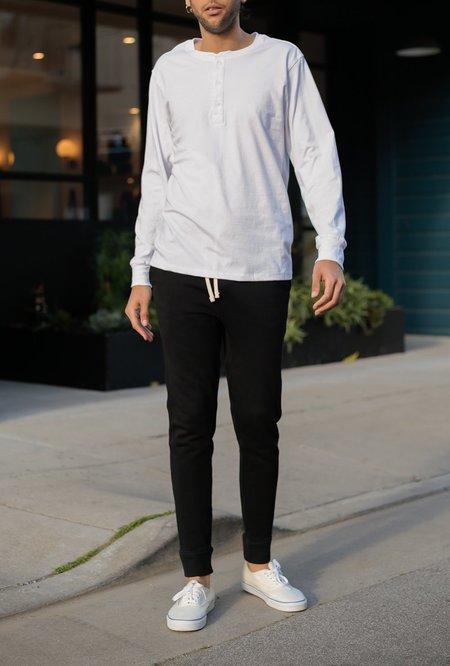 Richer Poorer Long Sleeve Henley - white