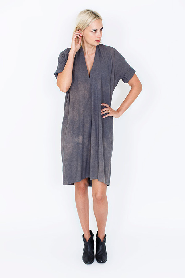 Miranda Bennett Muse Dress | Silk Noil in Coal
