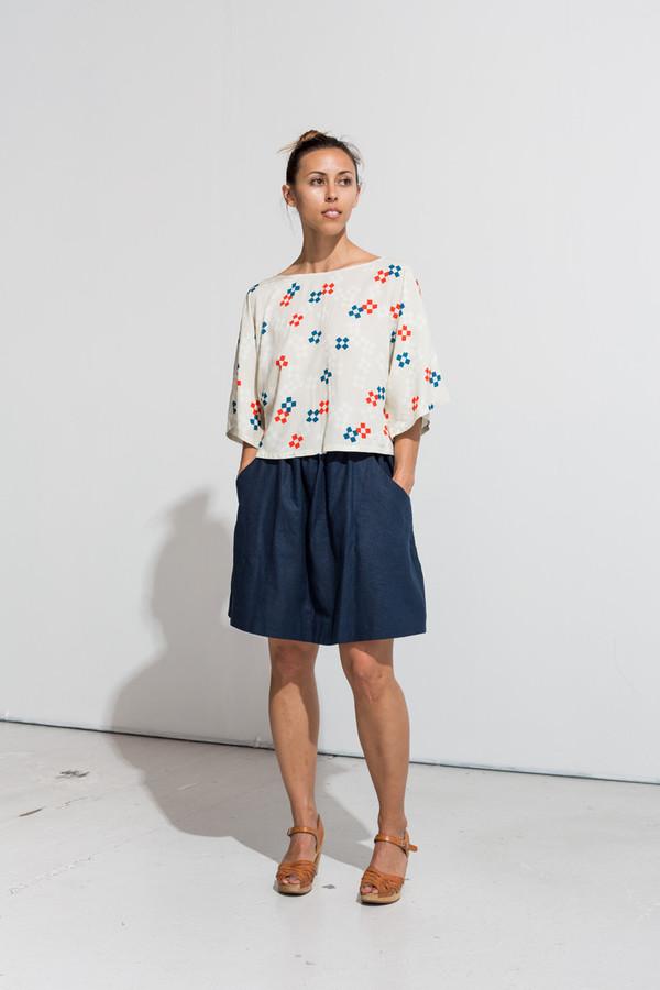 Nahanni Arntzen Jeani blouse- geo print