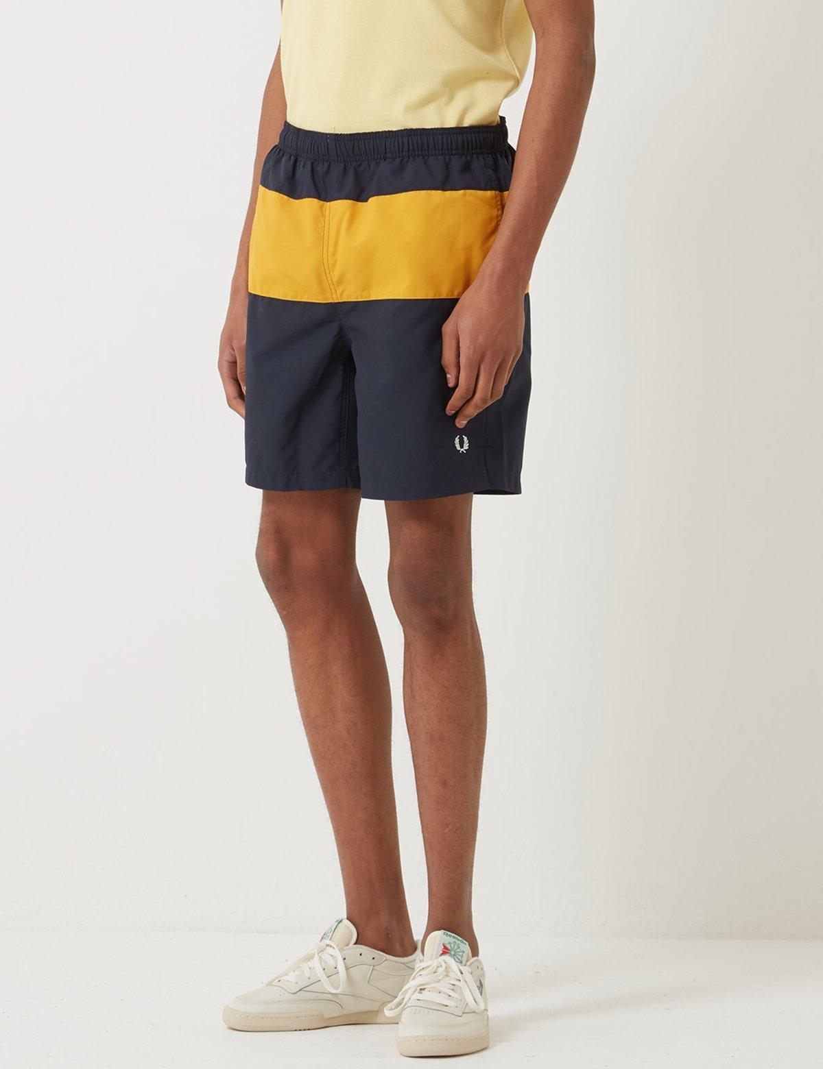 343d75149c Fred Perry Panelled Swim Short - Navy | Garmentory