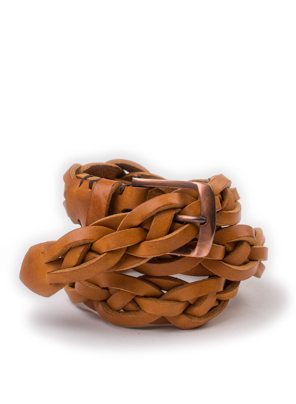 Men's Oliver Spencer Rope Belt Caramel