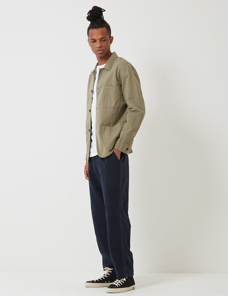 Portuguese Flannel Labura Cotton Workwear Jacket - Olive Green