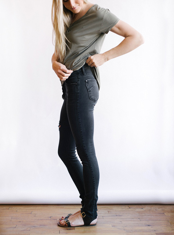 James Jeans Twiggy Blacked Out Jeans