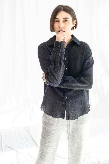 Pipsqueak Chapeau Boy Wool Gauze Shirt - Black
