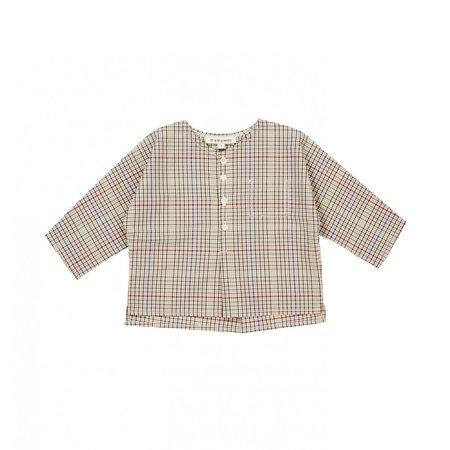 KIDS Caramel Aloe Baby Shirt - Beige Check