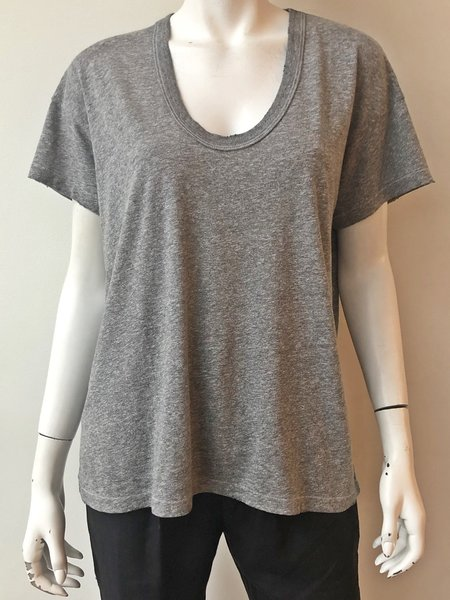 The Great. U Neck Tee - gray