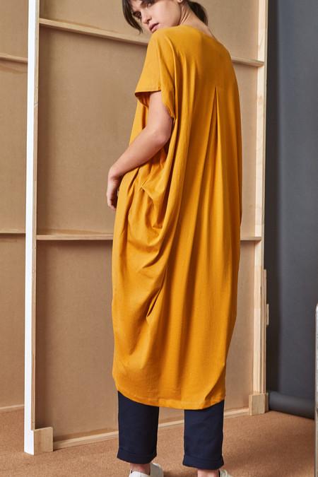 Kowtow Building Block Drape Dress - Amber