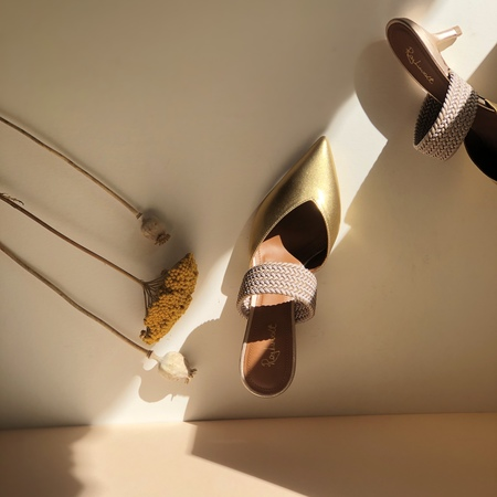 Malone Souliers Maisie mules - Gold